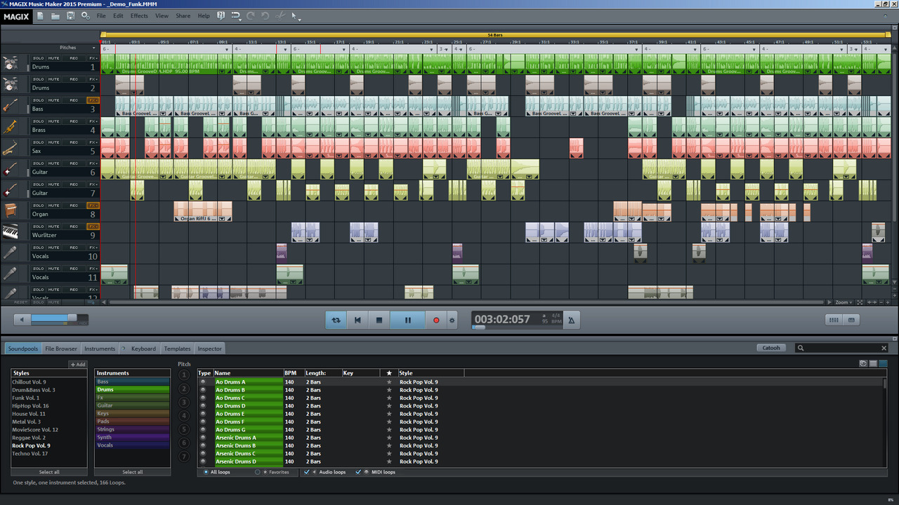 MAGIX Music Maker 25.0.1.33 software screenshot