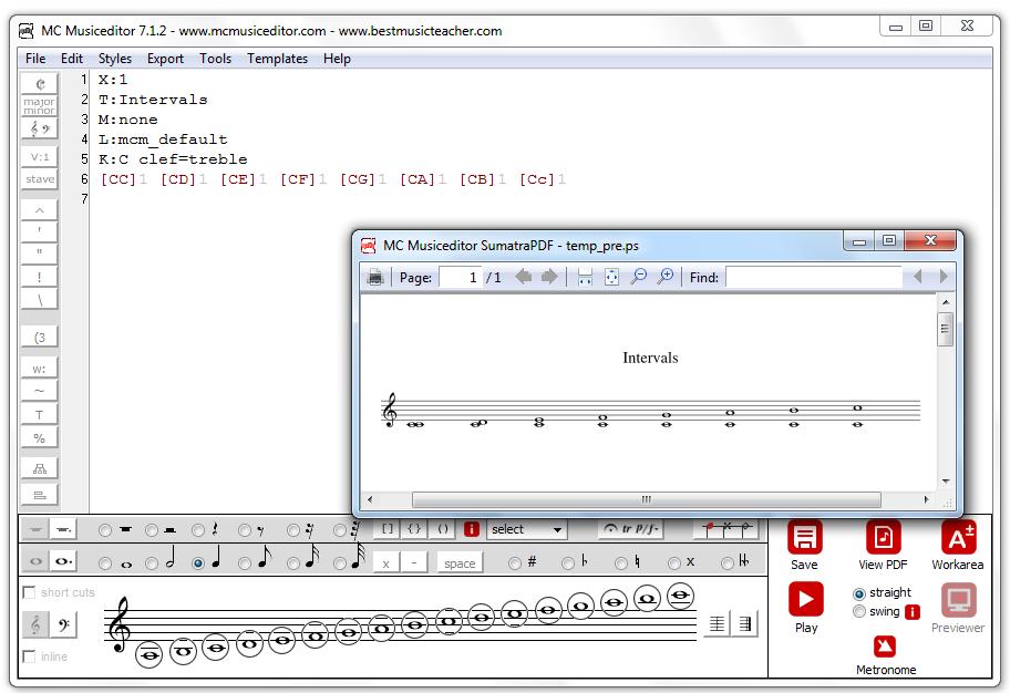 MC Musiceditor 8.4.3 software screenshot