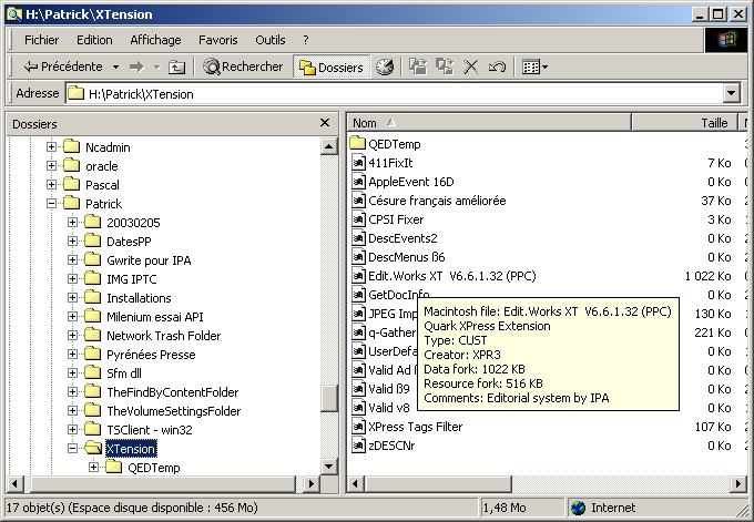 MacInfoTip 1.13 software screenshot