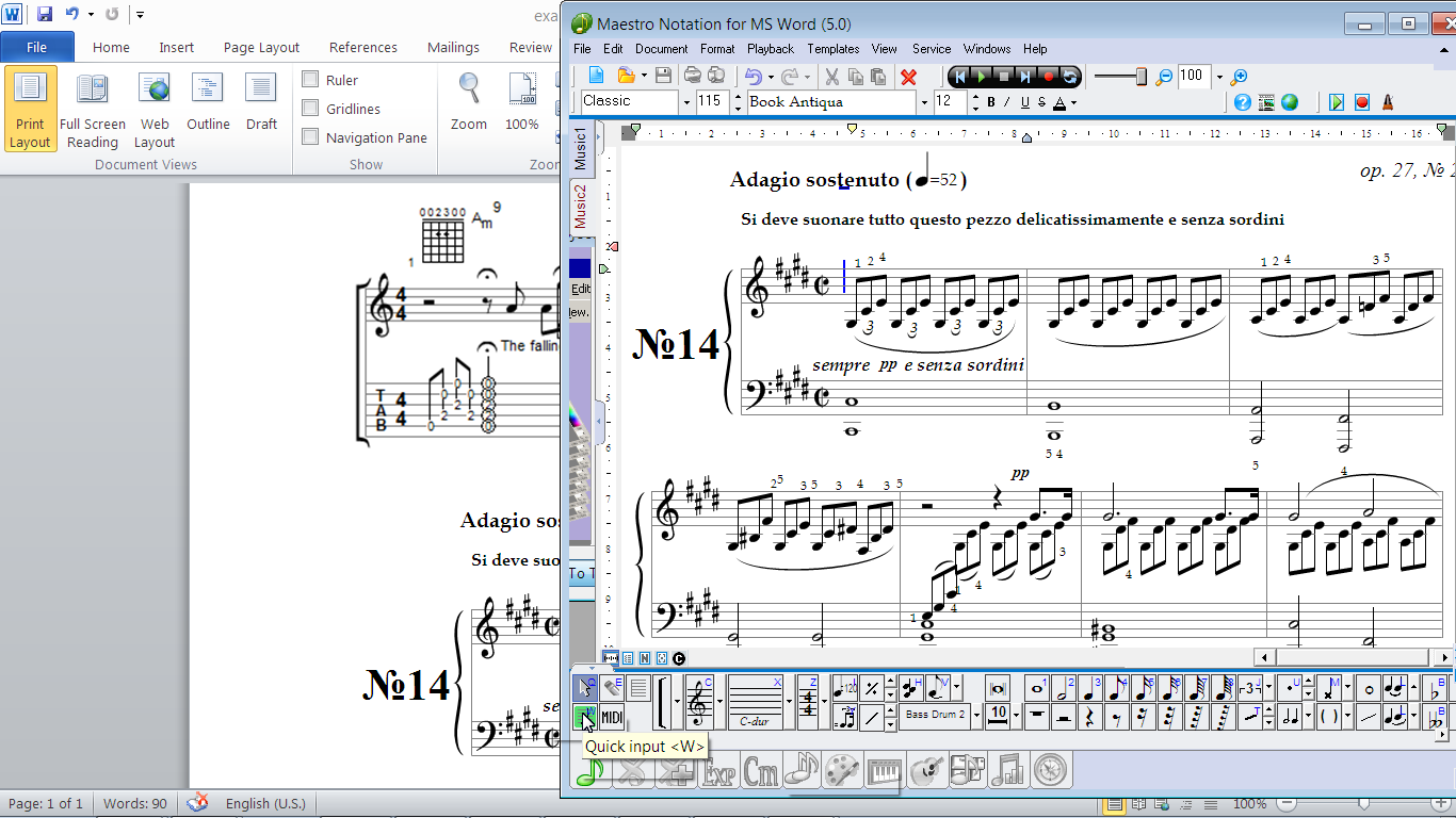 MagicScore Notation for MS Word 8.189 software screenshot