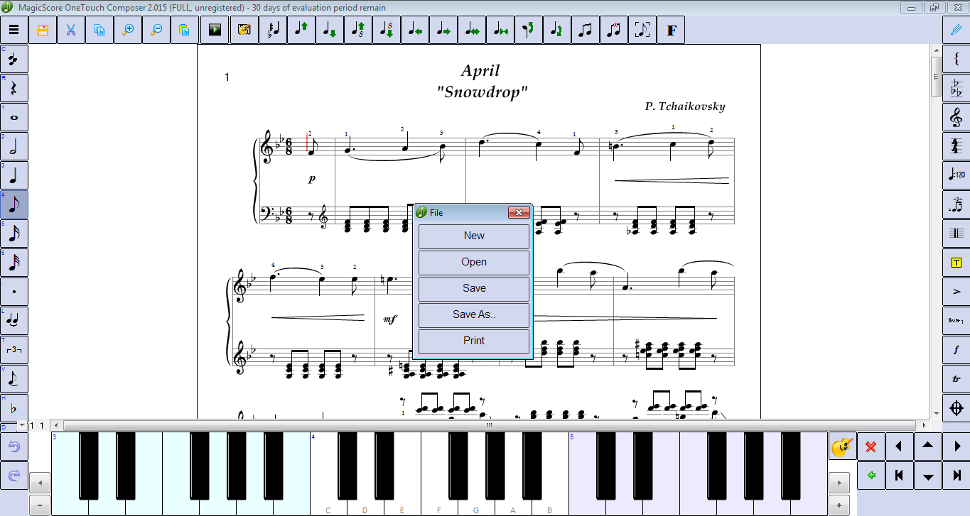 MagicScore OneTouch Composer 2.017 software screenshot