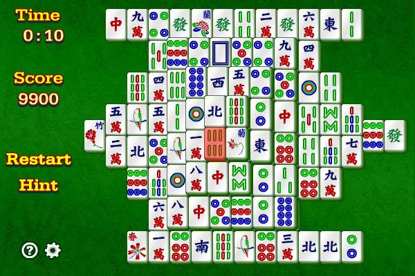 Mahjongg 1.9.0 software screenshot