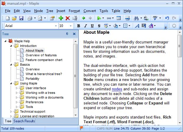 Maple 8.51 software screenshot