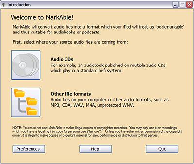 MarkAble 2.4.5 software screenshot