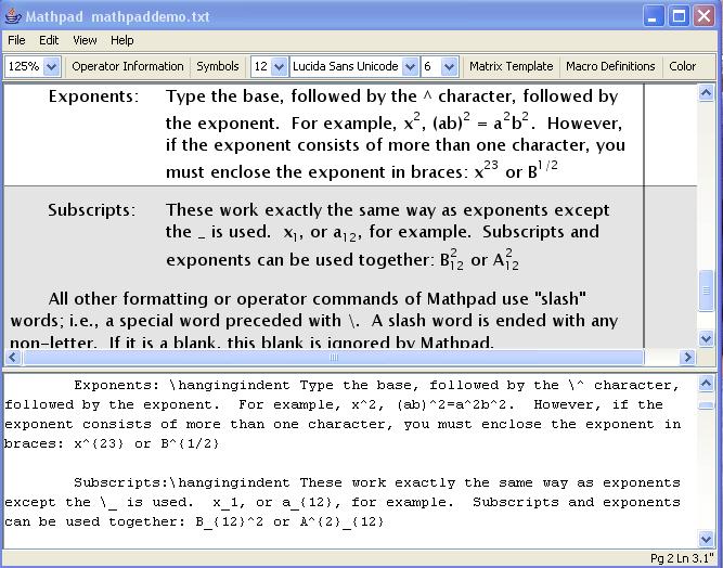 Mathpad 1.0 software screenshot