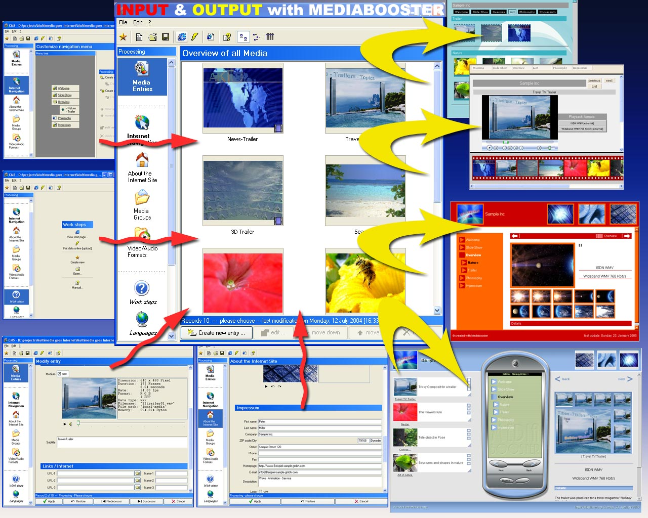 Mediabooster V1.2 software screenshot