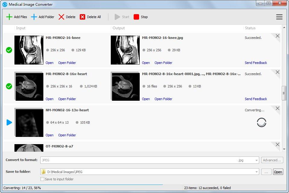 Medical Image Converter 3.1.0 software screenshot