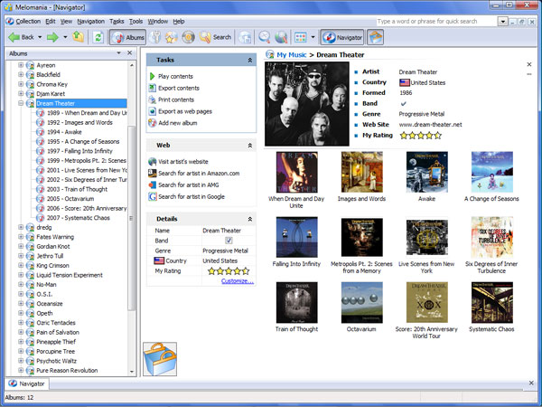 Melomania 1.88 software screenshot