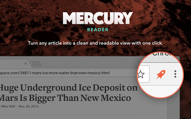 Mercury Reader for Chrome 4.2.4.0 software screenshot