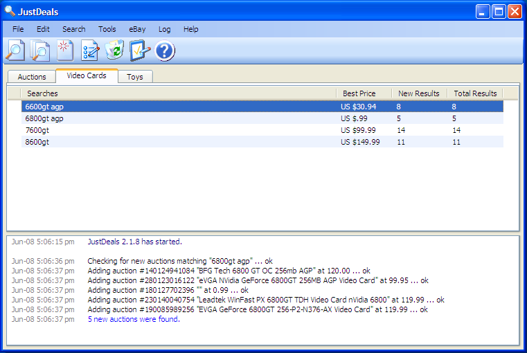 Merlin JustDeals 2.2.75 software screenshot