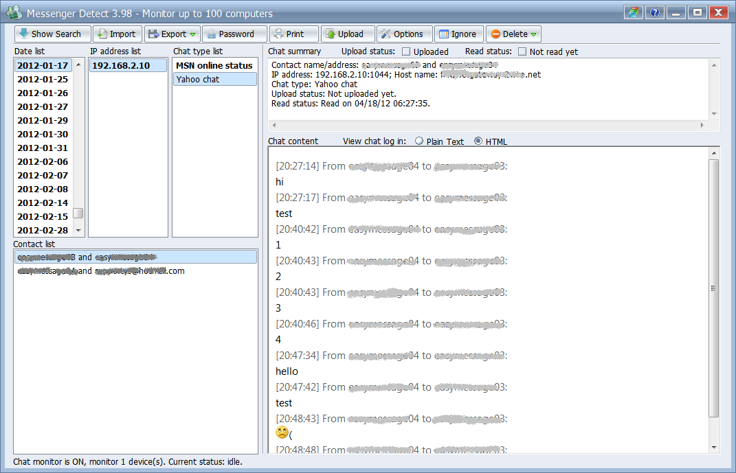 Messenger Detect 4.0.6.1 software screenshot