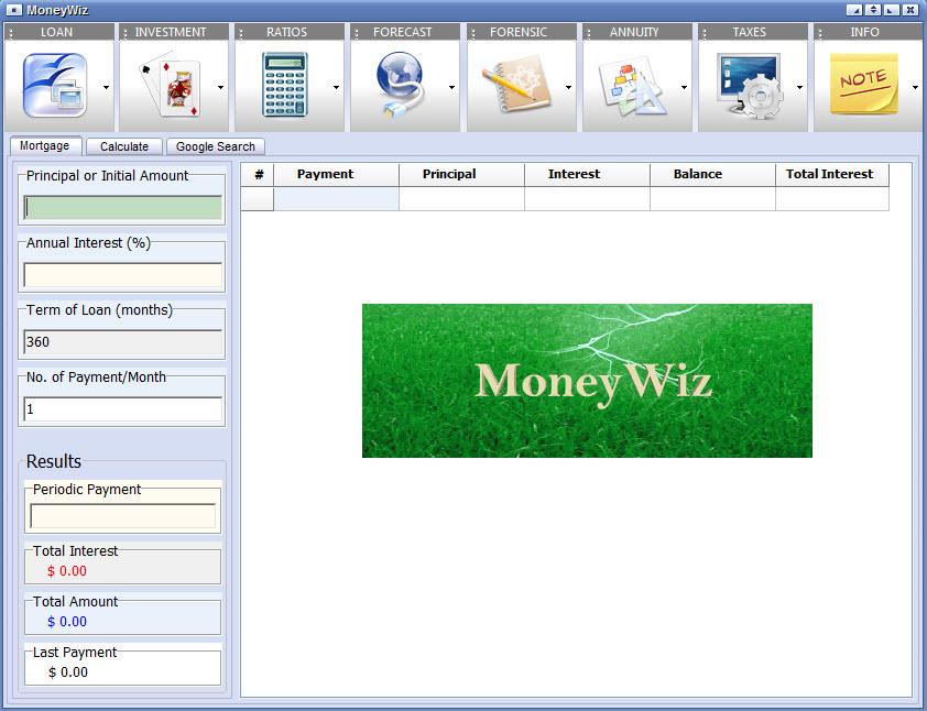 MoneyWiz 2.6.1.210 software screenshot