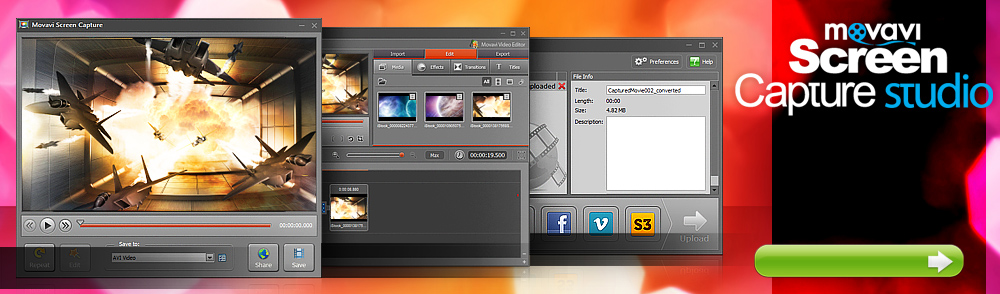 Movavi Screen Capture Studio 7.3.0 software screenshot