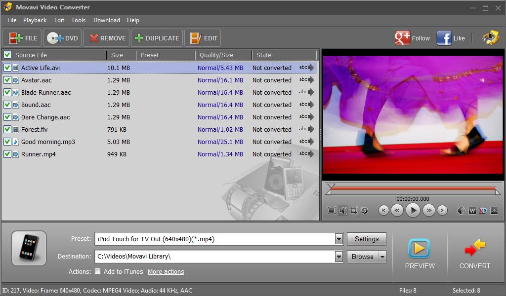 Movavi Video Converter 17.0.0 software screenshot
