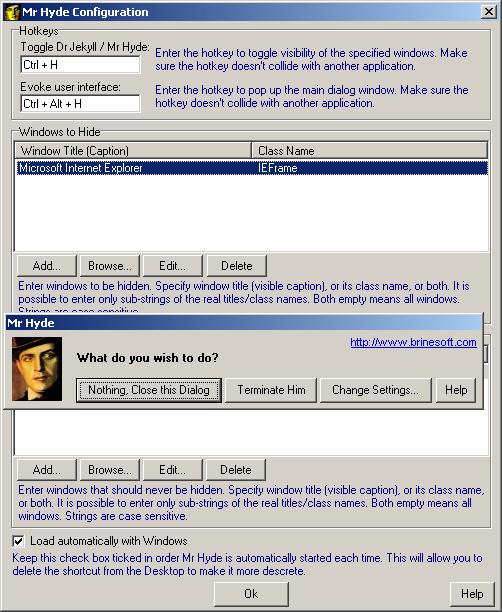 Mr Hyde 1.0 software screenshot