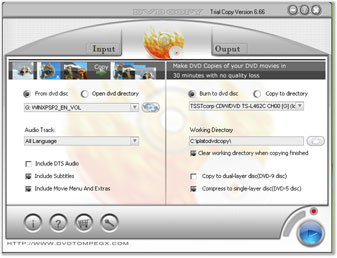 Multi-language Plato DVD Copy 12.07.01 software screenshot