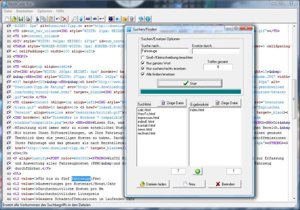 MultiCode 5.5.1.2 software screenshot