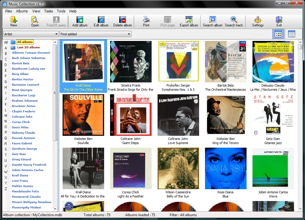 Music Collection Portable 2.8.6.7 software screenshot