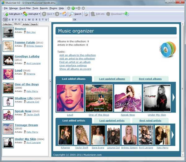 Musicnizer 8.1.472 software screenshot
