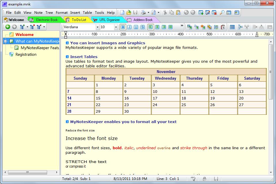 My Notes Keeper 3.8.2012 software screenshot