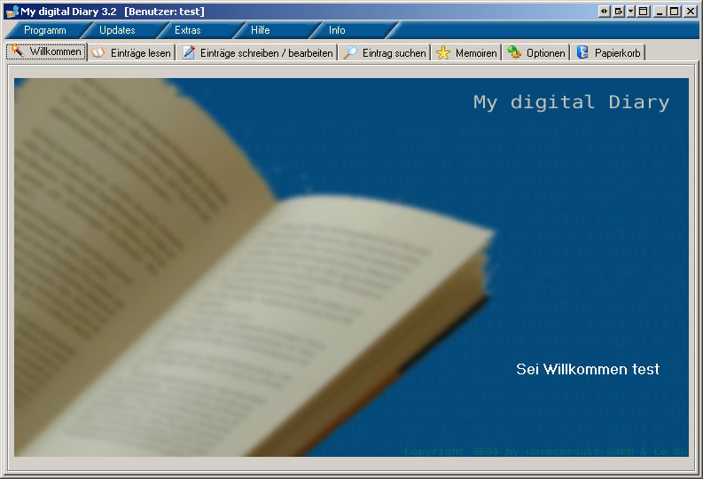 My digital Diary Professional Edition 3.2 software screenshot