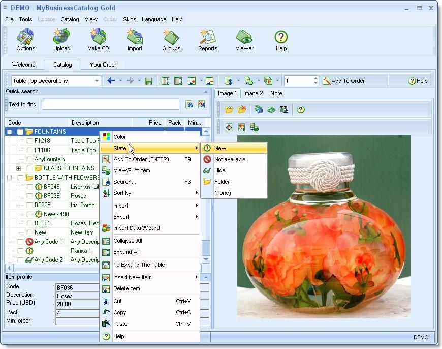 MyBusinessCatalog_Extented License 6.0.0 software screenshot