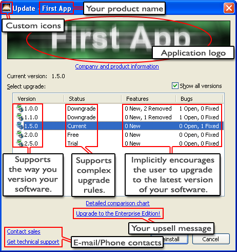 MyUpdate Toolkit 1.4 software screenshot