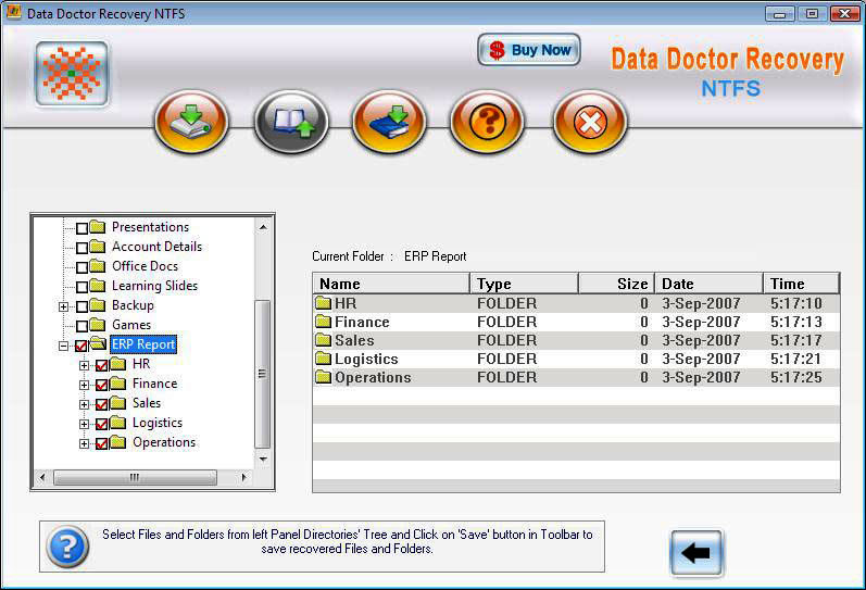 NTFS Disk Recovery 3.0.1.5 software screenshot