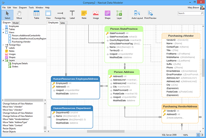 Navicat Data Modeler 2.1.12 software screenshot