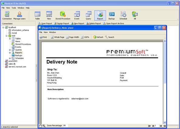 Navicat for MySQL 12.0.9 software screenshot