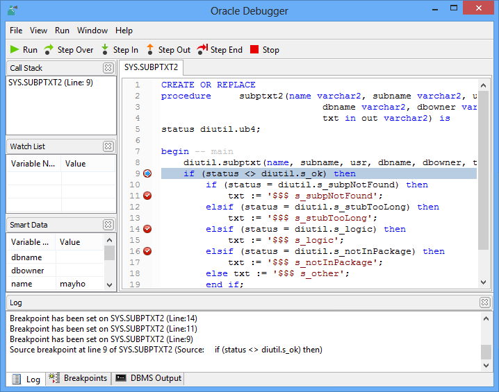 Navicat for Oracle 12.0.9 software screenshot