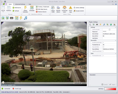 Netcam Studio 1.6.1.0 software screenshot