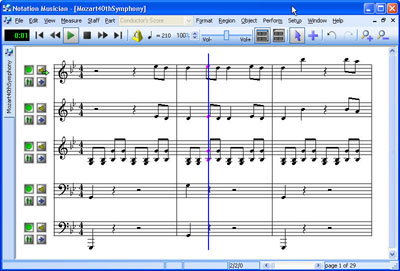 Notation Musician 2.6 software screenshot