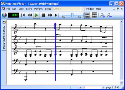 Notation Player 3.0.3 software screenshot
