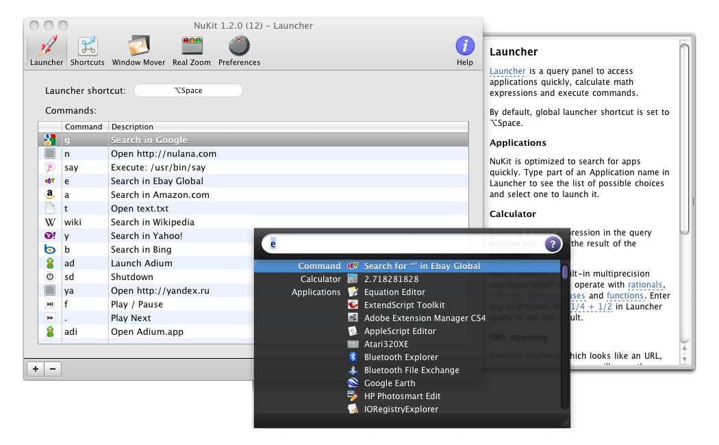 NuKit 1.1.5 software screenshot