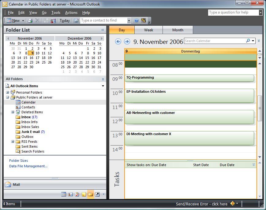 OLfolders PE 3.5.3 software screenshot
