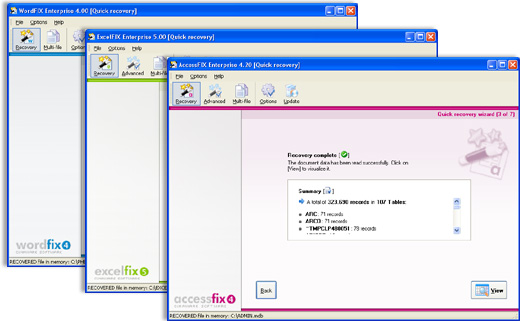 OfficeFIX Office Data Recovery 6.67 software screenshot