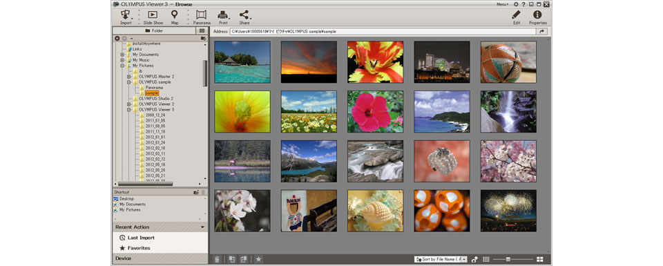 Olympus Viewer 3 2.1.3 software screenshot