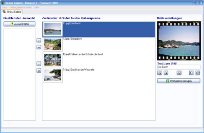 OnlineGalerie Pro 9.8.9 software screenshot