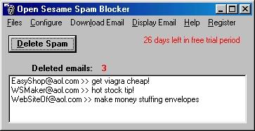Open Sesame Spam Blocker 1.0.0 software screenshot