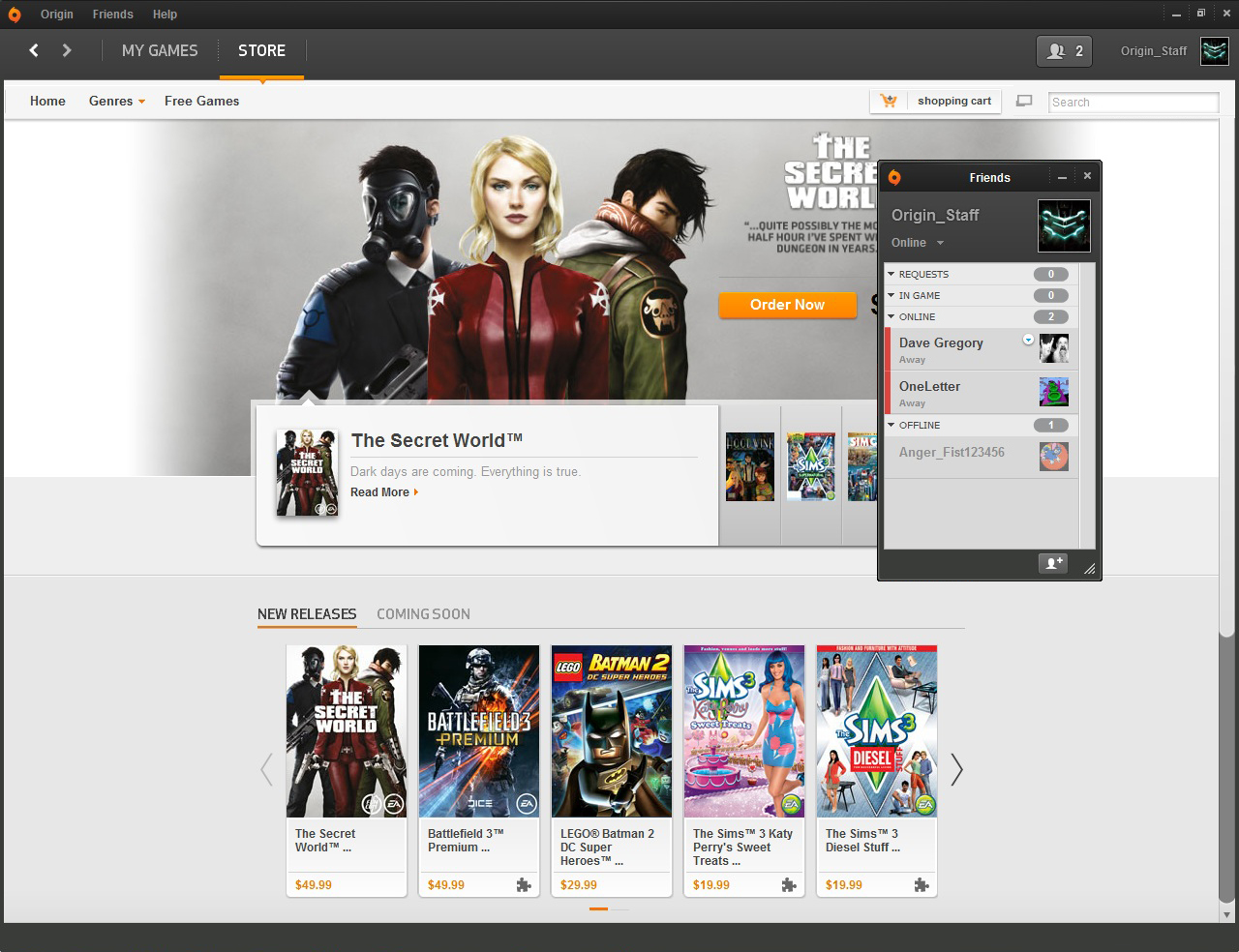 Origin 10.4.9.38188- 0 software screenshot