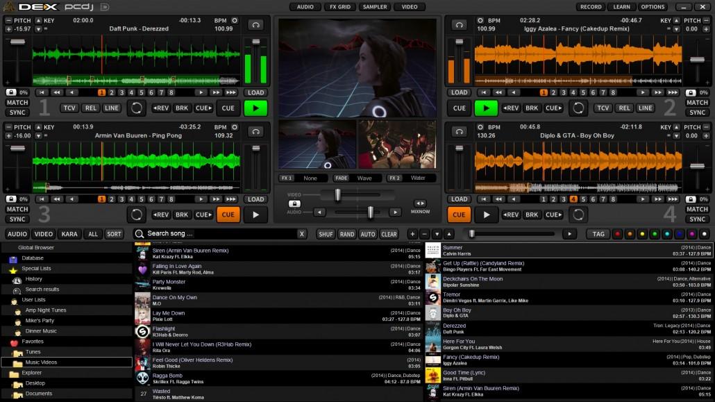 PCDJ DEX 3.8.0.1 software screenshot