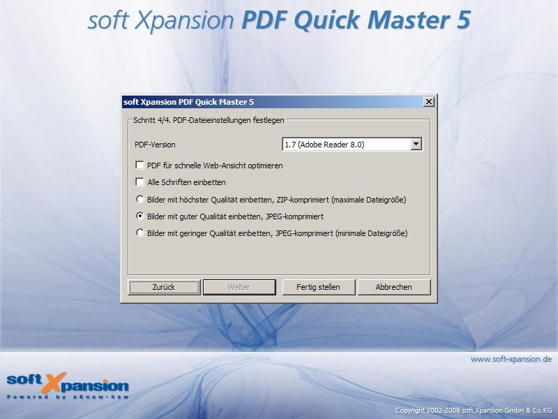 PDF Quick Master 3.5 software screenshot