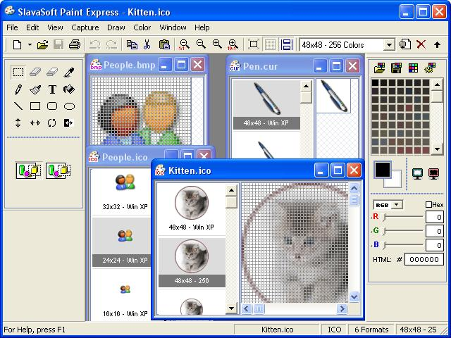 Paint Express 1.31 software screenshot