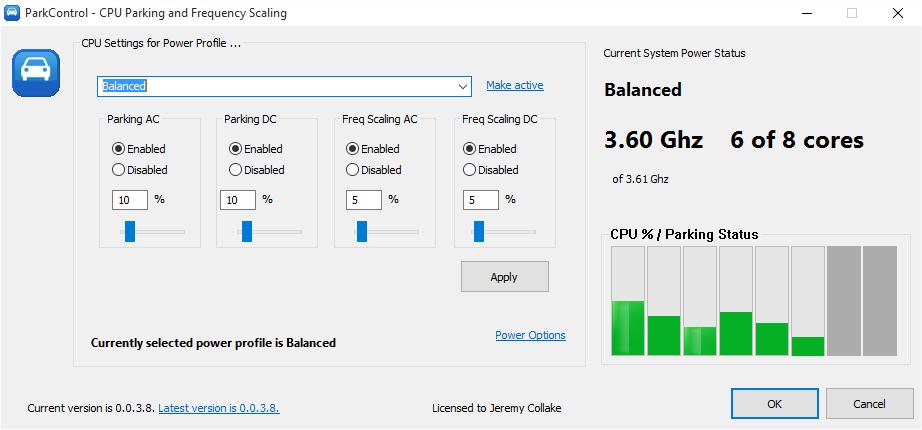ParkControl 1.2.6.2 software screenshot