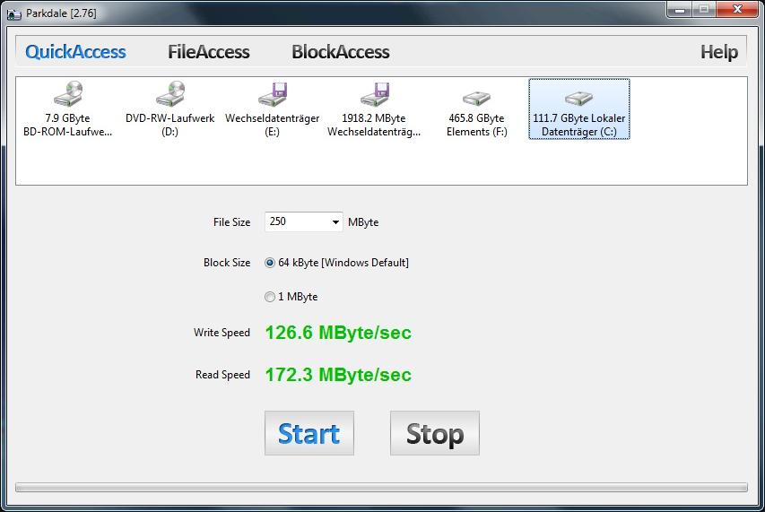 Parkdale 2.96 software screenshot