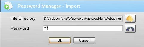 Password Manager 2.1.1.0 software screenshot