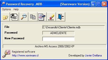 Password Recovery .MDB 2.5.1 software screenshot
