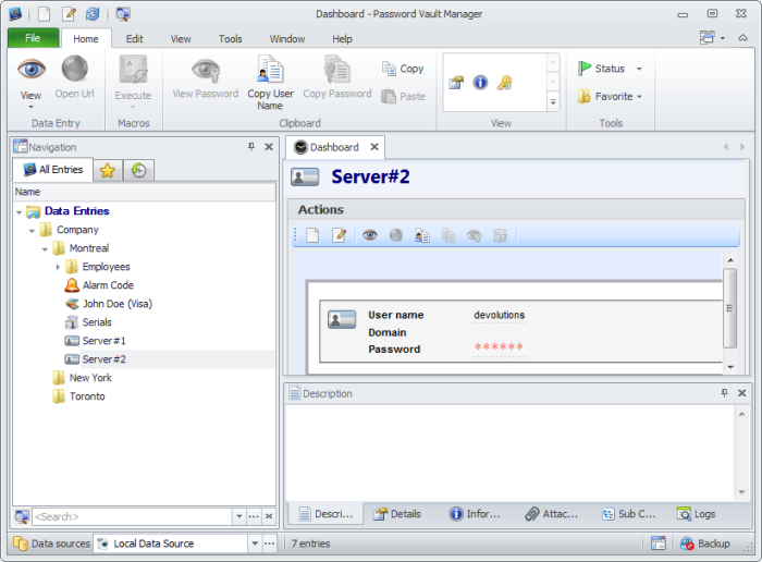 Password Vault Manager Enterprise 8.5.4.0 software screenshot