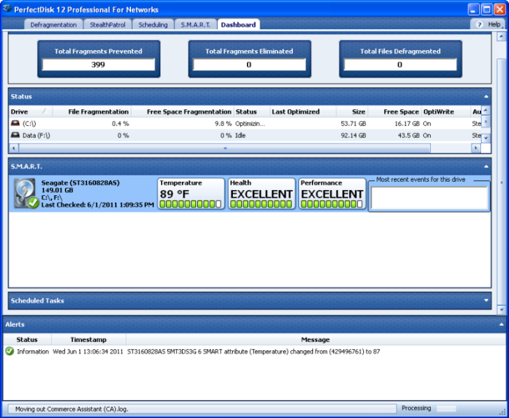 PerfectDisk Pro 14.0.890 software screenshot